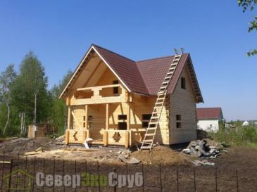 Фоторепортаж строительства дома 6*9 из профилированного бруса