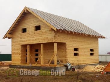 Дом 8х10 из профилированного бруса 200х200 в Чеховском районе д. Шарапово