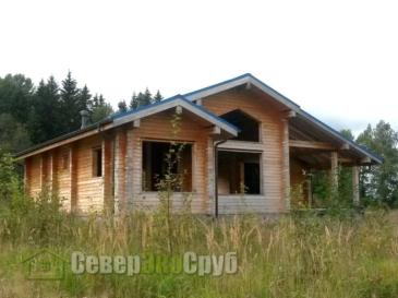 Дом по проекту БД-126 из сухого проф. бруса 145х190 в Клинском р-не