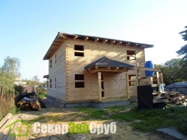 Фоторепортаж строительства дома 9*12 в Одинцовской районе, д. Перхушково