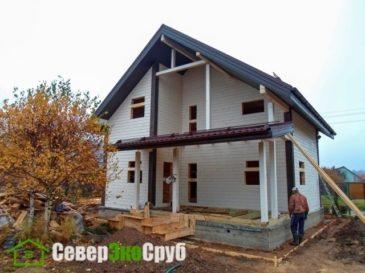 Фоторепортаж строительства дома из бруса. Солнечногорск