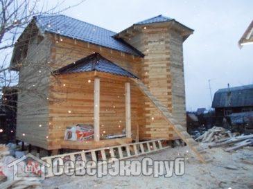 Фоторепортаж строительства дома из бруса по проекту БД-31. Московская область, г.Балабаново