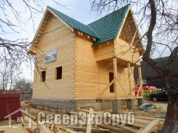 Фоторепортаж строительства дома 6*8 из бруса. Наро-Фоминский район, д. Ильинское