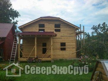Фоторепортаж строительства дома из бруса по проекту БД-20.Тверская область, Талдомский район