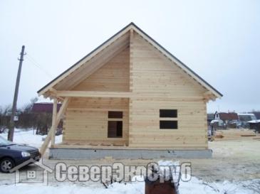 Фоторепортаж строительства дома из бруса по проекту БД-36. Московская область, г.Воскресенск