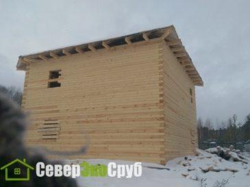 Фотоотчет строительства дома из профилированного бруса 145*190 в Московской области