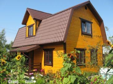 Фоторепортаж строительства дома из бруса по проекту БД-34 в Часцы (Одинцовский район)
