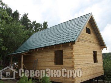 Фоторепортаж строительства дома из бруса по проекту БД-33. Истринский район, с. Павловская Слобода