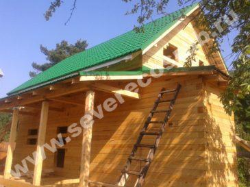 Фоторепортаж строительства дома из обычного бруса. г.Королев