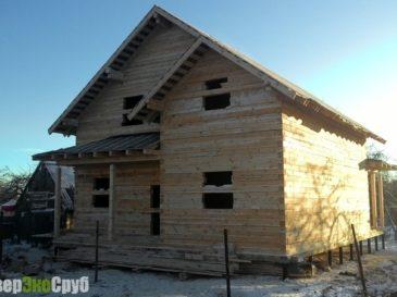 Фоторепортаж строительства дома из бруса по проекту БД-41 в г. Медынь, Калужская область