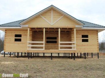 Строительство дома из бруса в Лотошинском районе, Московская область