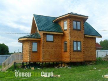 Фоторепортаж строительства дома из профилированного бруса по проекту БД-10 в Истринском районе МО
