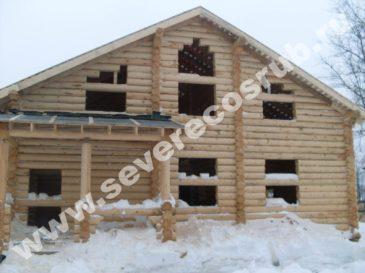 Строительство сруба из калиброванного бревна, Волоколамский р-н
