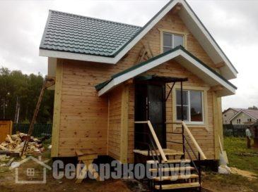 Отделка дома из проф. бруса в Можайском районе по проекту БД-28