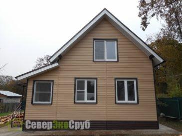 Отделка дома из проф. бруса в Щелковском районе
