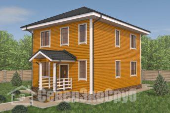 БД-102 Проект дома из бруса 8×10