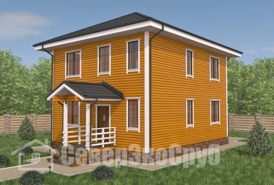 БД-102 Проект дома из бруса 8×10 Общий вид