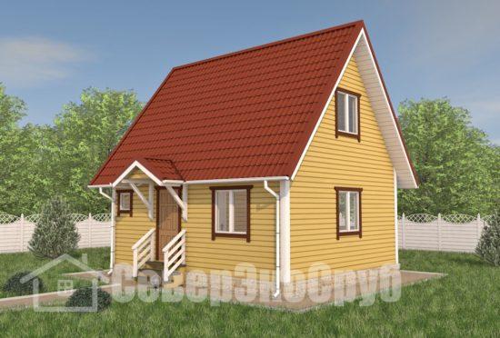 БД-104 Проект дома из бруса 6×7 Общий вид