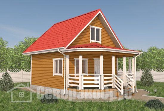 БД-106 Проект дома из бруса 6×8,5 Общий вид