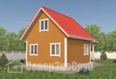 БД-106 Проект дома из бруса 6×8,5. Сзади слева