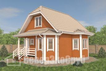 БД-107 Проект дома из бруса 7×8