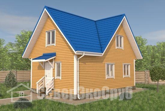 БД-108 Проект дома из бруса 6×9 Общий вид