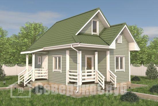 БД-109 Проект дома из бруса 6×7,5 Общий вид