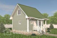БД-109 Проект дома из бруса 6×7,5. Сзади слева