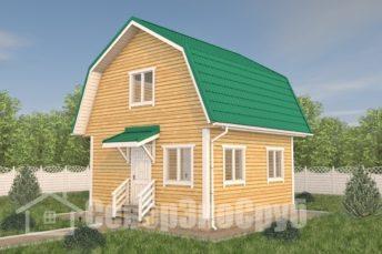 БД-112 Проект дома из бруса 6×6