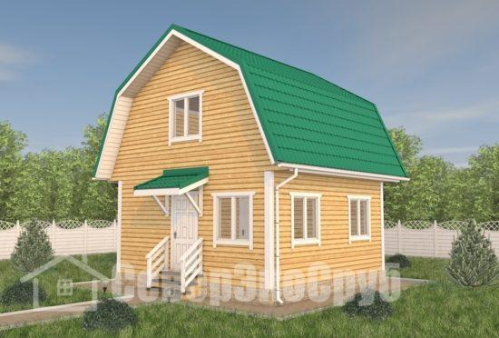 БД-112 Проект дома из бруса 6×6 Общий вид