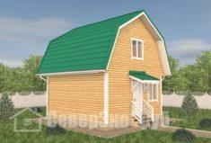 БД-112 Проект дома из бруса 6×6. Вид спереди слева