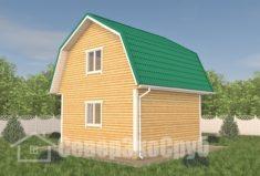БД-112 Проект дома из бруса 6×6. Сзади слева