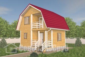 БД-113 Проект дома из бруса 6×6