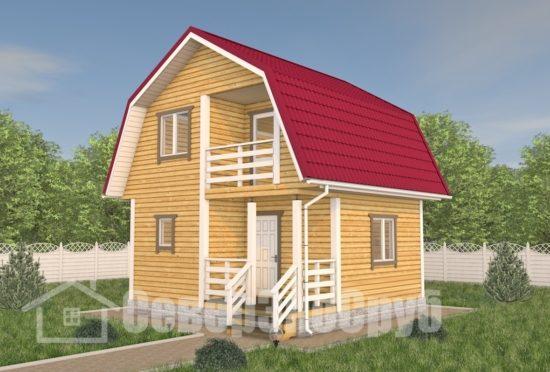 БД-113 Проект дома из бруса 6×6 Общий вид
