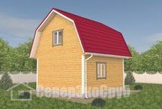 БД-113 Проект дома из бруса 6×6. Сзади слева