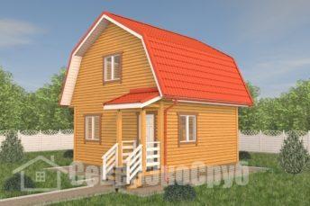 БД-114 Проект дома из бруса 6×6