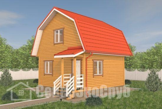 БД-114 Проект дома из бруса 6×6 Общий вид