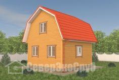 БД-114 Проект дома из бруса 6×6. Сзади слева