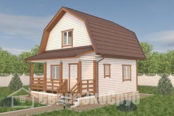 БД-116 Проект дома из бруса 6×7,5