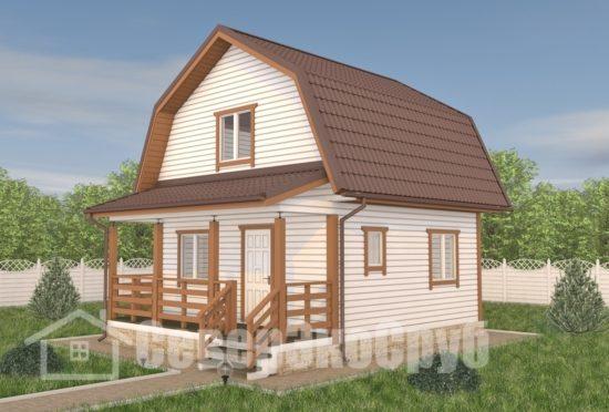 БД-116 Проект дома из бруса 6×7,5 Общий вид