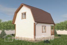 БД-116 Проект дома из бруса 6×7,5. Сзади слева