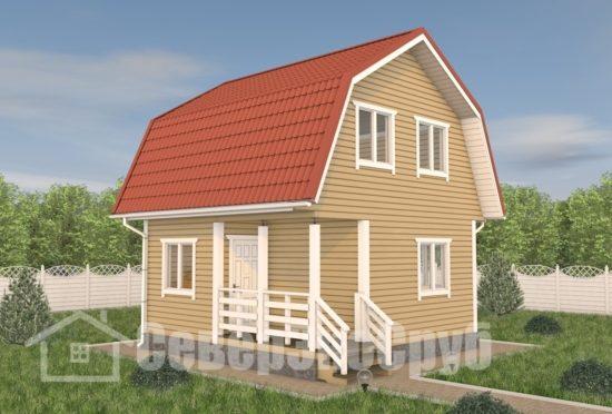 БД-117 Проект дома из бруса 6х6 Общий вид