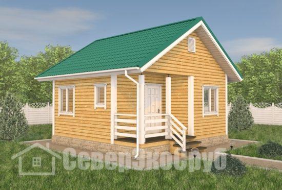 БД-118 Проект дома из бруса 6×6 Общий вид
