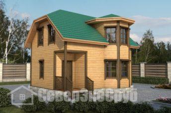 БД-14 Проект дома из бруса 6х8