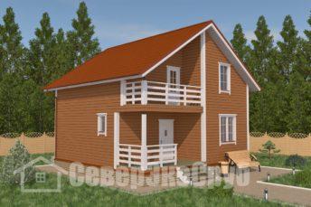 БД-16 Проект дома из бруса 8,3×8,3