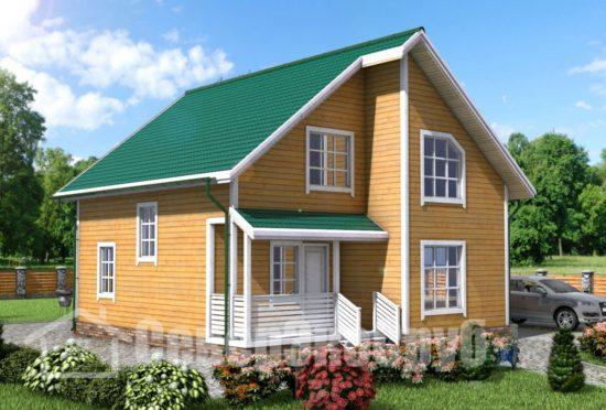 БД-2 Проект дома из бруса 9х10 Общий вид