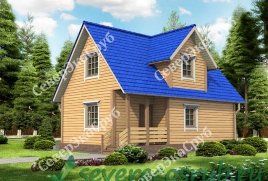 БД-3 Проект дома из бруса 6х9 Общий вид