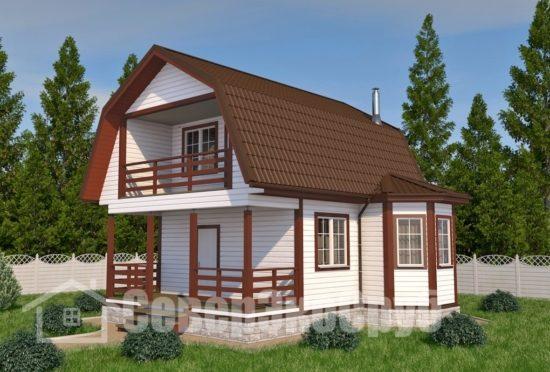 БД-4 Проект дома из бруса 8х8 Общий вид