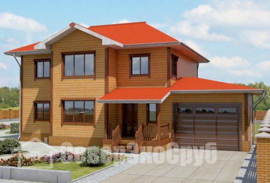 БД-56 Проект дома из бруса 10,5х15,5 Общий вид