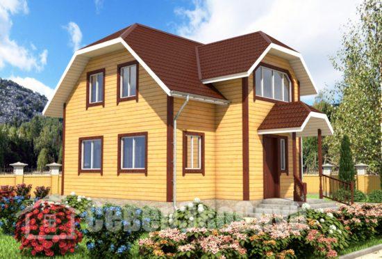БД-57 Проект дома из бруса 8,5х9 Общий вид